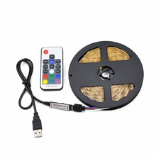 USB LED Strip Backlight lamp Tape Ribbon 5V RGB 1M 2M 3M 4M 5M 60LEDs/M Bias lighting Desktop Flat Screen LCD TV HDTV Monitor PC