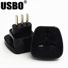 Black 10A 250V CE certified ABS material connector AU UK EU US to Italy travel plug adaptor with security door