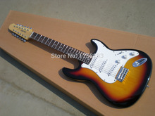 2019 Top quality The new 12 string Hot selling SSS Stratocaster Guitar The yellow color can mix order Electric Guitar(China)
