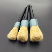 3PCS Plastic Handle Auto Detailing Brushes Perfect For Interior Gap Rims Wheels Air-Condition Car Wash Accessories