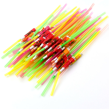 50Pcs per Bag Creative Umbrella Parasol Drinking Straws Party Cocktail Supply HG4358
