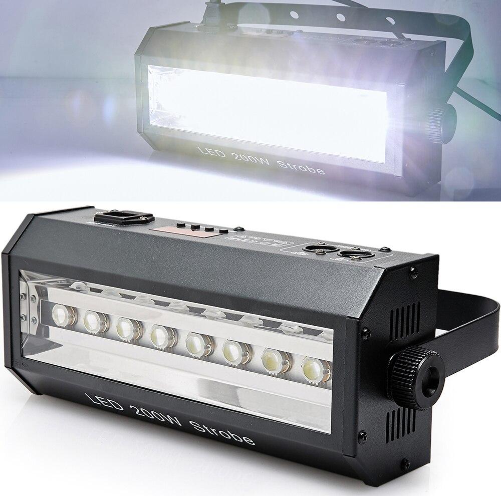 New DMX Sound control 8 LED Strobe Lamp Party Disco DJ Bar Light Show Projector Stage Lighting<br><br>Aliexpress