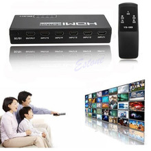 5 Ports Remote High Definition Multimedia Interface Switch Switcher Selector Splitter 1080P For HDTV PS3 DVD STB Aug3(China)