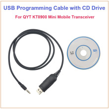 QYT KT8900 KT-8900 USB Programming Cable&CD Software for QYT KT-8900 KT-UV980 KT8900R KT-8900R Dual Band mini Mobile Car Radio