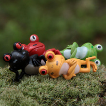 New style mini frog animals figurines fairy garden miniatures gnome moss terrariums resin craft for home decoration accessories