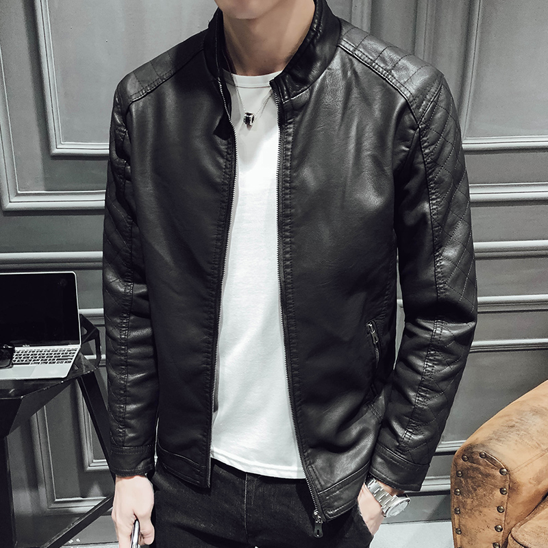 Mens Leather Jackets Spring Autumn Winter Coats Men Faux Biker Motorcycle Jackets Cool Male Casual Clothes Outerwear