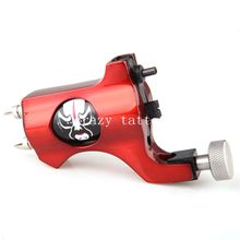 Crazy Newest Style Bishop Rotary Tattoo Machine Red Colors Tattoo Tachine For Liner and Shader Free Shipping