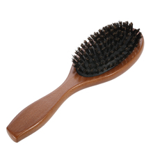 Natural Boar Bristle Hairbrush Massage Comb Anti-static Hair Scalp Paddle Brush Beech Wooden Handle Hair Brush Styling Tool(China)