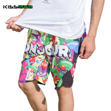 KISSyuer Hot Wholesale Men's Swimsuit Long Beach Surf Shorts Man Running Exercise Outdoor Sports Swimming Wear Shorts KBS1124