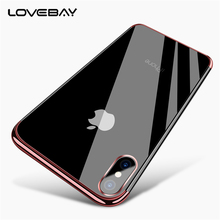 Lovebay Phone Case For iPhone X For iPhone 7 8 Plus Luxury Electroplated Transparent Soft TPU For iPhone 6s Plus Phone Case Capa(China)