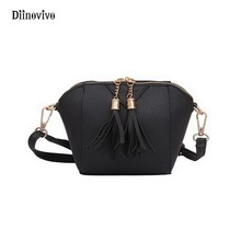 DIINOVIVO Bags for Women 2017 Shoulder Bags Rock Designer Female Tassel Solid Saddle Handbag Simple Brand Evening Purse WHDV0283(China)