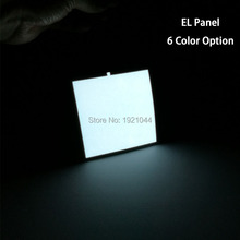 New 10X10CM White el sheet 6 Color choice el panel el backlight for car,carnival,house,dispaly,holiday,festival party decoration(China)