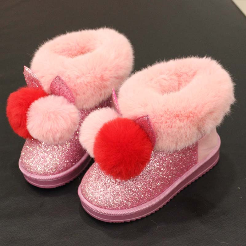 2018-winter-new-children-snow-boots-big-kids-leather-boots-warm-shoes-with-fur-princess-baby (2)