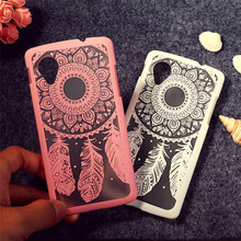 For LG G5 Phone Case Covers Dream catcher Flower design Painting Back Cover For LG Google Nexus 5 Phone Protector cover t006