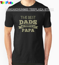 2017 Direct Selling Limited Fashion O-neck Teeplaza Summer Sleeves Men Short Gift The Best Dads Get Promoted To Papa Shirts(China)