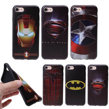 Brand Marvel Avengers Captain America Shield Spiderman Superman Case For iphone 6 6S 7 Plus 5 5S Soft TPU Phone Cases Back Cover