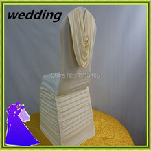 Free shipping spandex ruched chair cover used chair cover for sale wedding decor.(China)