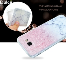 Dulcii for Galaxy J 7 Prime Phone Cover Case Pattern Printing TPU Gel Mobile Casing for Samsung Galaxy J7 Prime/On7 2016 Marble(China)