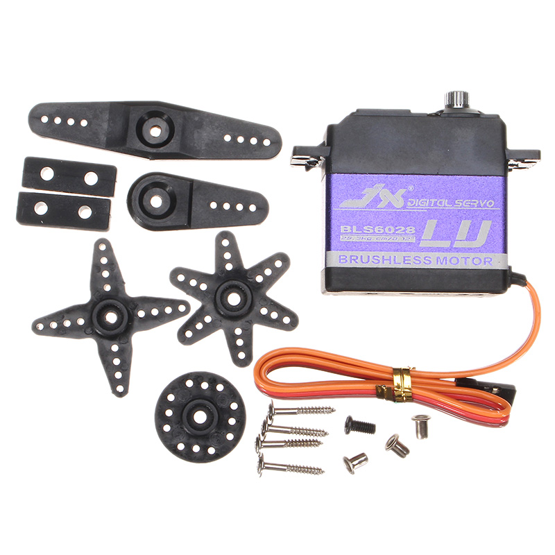 JX Servo BLS6028 28kg 180 Degree Brushless Digital Servo For RC Helicopter Spare Parts<br>