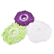 KuZHEN 1Pc 360 degree Nanometer Microfiber Cloth Mop head for Spin magic mop house cleaning super water dust absorbing