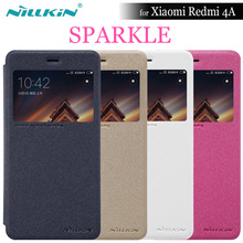 NILLKIN For Xiaomi Redmi 4A Case Nilkin Sparkle Flip Cover Frosted PC Hard Case Phone Bag For Xiaomi Redmi 4A 5.0'' + Retail Box(China)