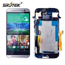 Srjtek screen For HTC One M8 LCD Display Touch Digitizer Sensor Glass with Frame Assembly 100% Tested 5.0inch 1920*1080