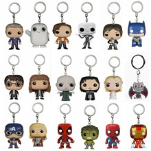 28 patterns Game of Thrones Keychain Arrow Hermione Granger Lord Voldemort toy Figure Deadpool Captain America The Walking Dead