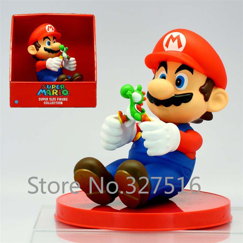 Japan Super Mario  Mario High quality PVC Action Figure Toys Free shipping<br><br>Aliexpress