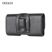 OEEKOI Stone Pattern PU Leather Waist Belt Clip Pocket Pouch Phone Holster Case for Plum Coach Plus II/Coach Pro 6 inch(China)