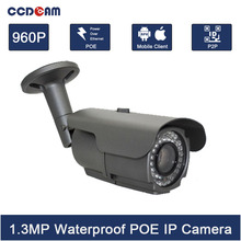 CCDCAM POE 960P IP Camera waterproof 1.3 Megepixel Surveillance camera security equipment(China)