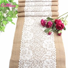 Jute Lace Table Runner Luxury Burlap Table Runners Morden Tablecloth for Weddings Party Christmas Decorations for Home Textile