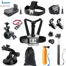 LoogDoo for Gopro Accessories Streamlined edition set for go pro hero 5 4 3 SJCAM SJ4000 xiaomiyi eken h9 action camera TZ01(China)