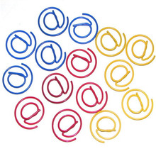 WHOLESALE METAL @ SHAPED PAPER CLIPS BOOKMARK GEOMETRY CLIPS OFFICE SUPPLIERS RED COLOR