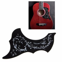 1Pc Acoustic Guitar Pickguard Hummingbird Scratch Plate Pickguard Black Background(China)