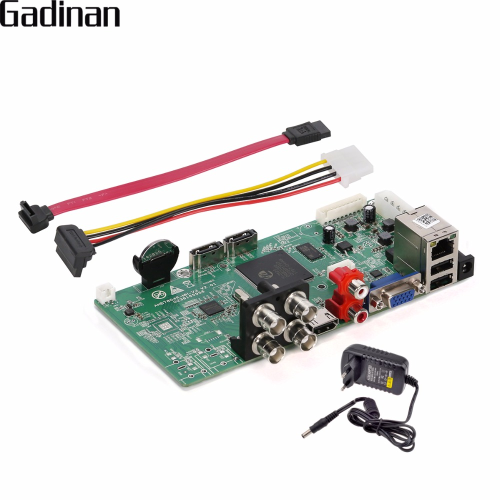 GADINAN AHD 4CH 1080P /HVR 2CH 1080P(AHD) +2CH 1080P(IP) AHD TVI CVI DVR 5 in 1 1080P Board PCB ONVIF HDMI Output Email Alert <br>