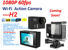 Freeshipping 4K 25fps waterproof Action Camera H2R H2 1080P 170D wide angle lens high cost performance Sports Camera
