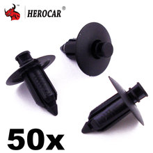 In Stock New 50x Black Plastic Rivet Body and Trim Panel Fastener Clips for Volvo Mitsubishi(China)