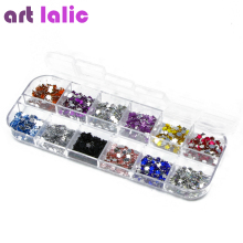 3000 Pcs  Nail Art lalic Rhinestones Gems Decoration Glitters Case Gel Polish Varnish DIY  Flower