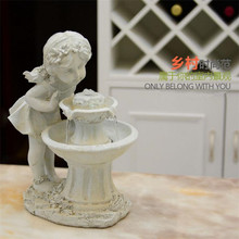 Little angel air humidifier Wedding gift wedding decoration European style petite ferry water fountain Creative Decoration(China)
