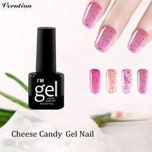 Verntion Cheap Nail Gel Polish Long Lasting Cheese Colors 8ml UV Lucky Gel Lacquer Soak Off Top and Base Coat Nail Art Varnish