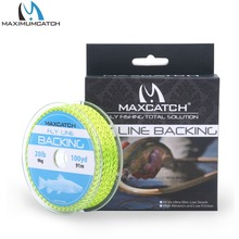 Maximumcatch Fly Backing Line 20LB 100Yards Yellow Braided Fly Fishing Line