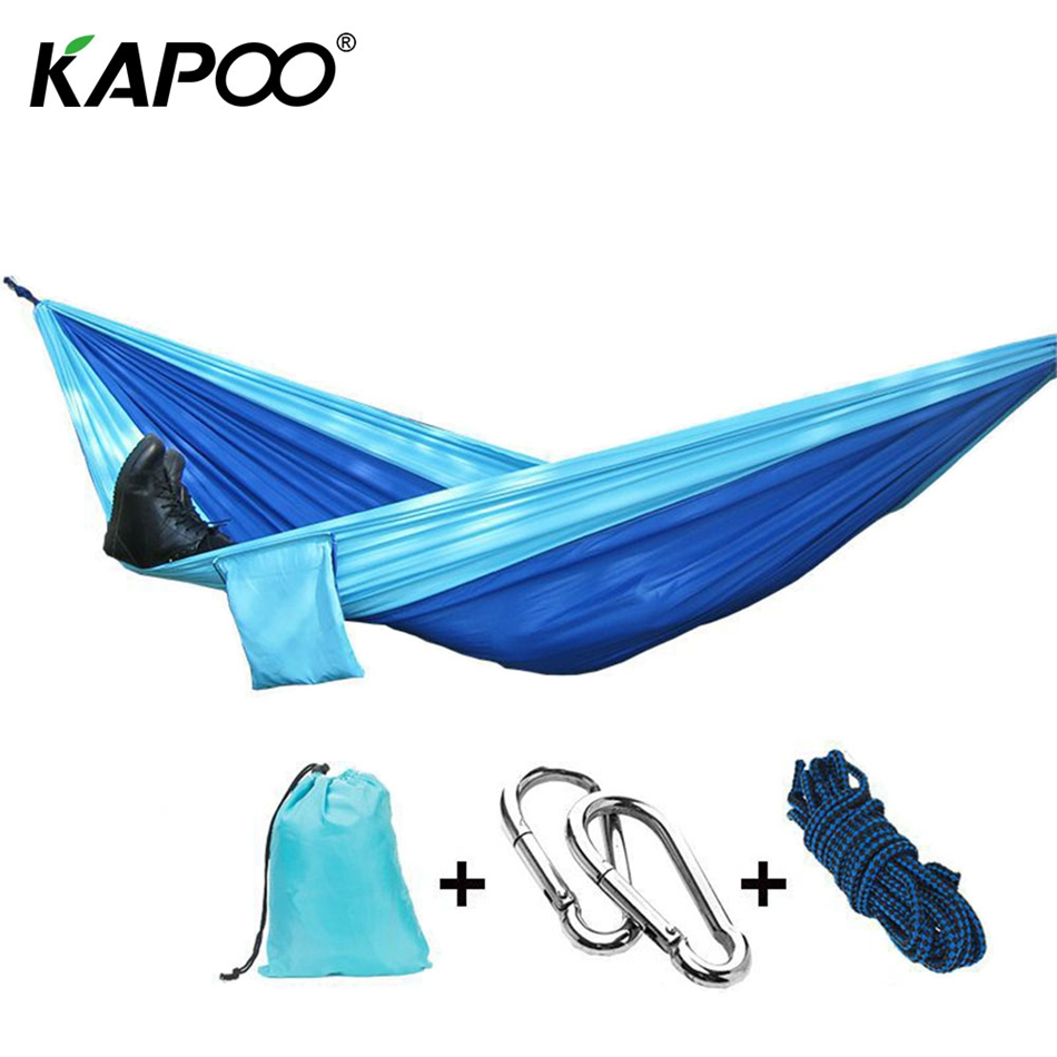 KAPOO portable parachute cloth hammock outdoor furniture camping chair swing swing hammock backpack travel bed dormitory leisure 2