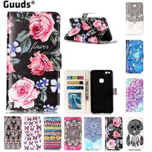 For Huawei P10Lite Phone Cover Coque Flower Rose Coque Plum 3D Relief Oil PU Leather Wallet Case for Huawei P10 Lite P10Lite(Hong Kong)