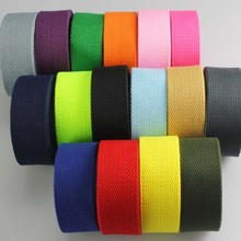 38mm width Cotton Canvas Webbing Tape Bag Straps Belt Sling Fabric Strap Sewing Craft Webbing Trimmings 2 Meter(China)