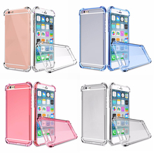 Ultra thin Fashion Transparent Clear Silicon 360 Degree Full Protection Case Air Cushion Case Protector For IP7(WITHOUT SCREEN)