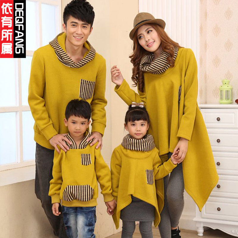 Matching Mother Daughter Clothes Family Look Father And Son Long Sleeve Hoodies Mommy and Me clothes Big Size XXXL Family Outfit<br>