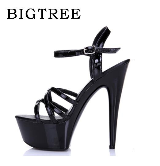 Steel Pipe Dance Shoes Sandals Women Summer Bridal High-heeled 13-15cm ,Thick Bottom Platforms Thin Heels Ladies Shoes 18 Type <br>