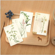 54Pcs/lot Hot New Festive supplies plants Paper Card wedding blessing birthday greeting card party accessories 8z-cx135