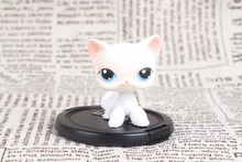 New pet Genuine Original LPS #64 Rare Pink White Short Hair Cat Kitty Blue Eyes Collection figure Toys(China)