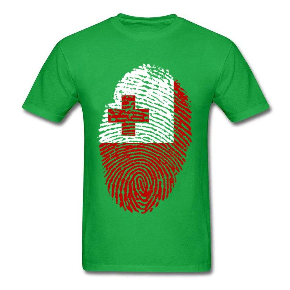 Tonga Flag Fingerprint_green